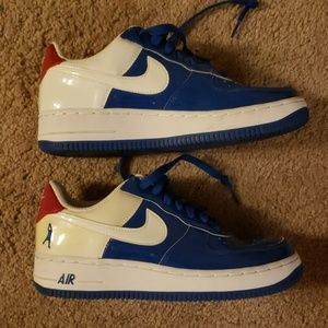 Nike Shoes - Air force sheed - red white and blue vintage nikes